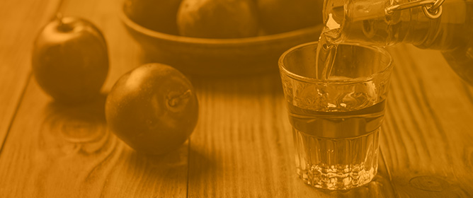 Absorbance Spectroscopy of Heads, Hearts and Tails Fractions in Fruit Spirits